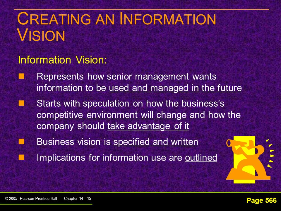 CREATING AN INFORMATION VISION