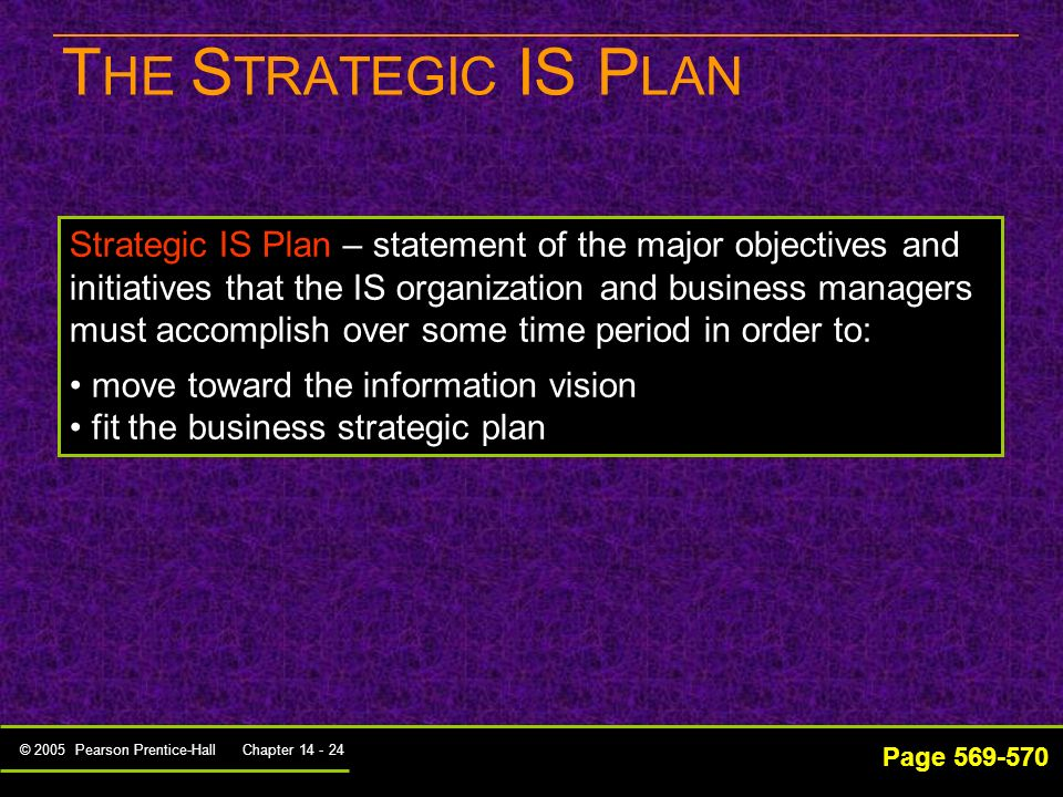 THE STRATEGIC IS PLAN