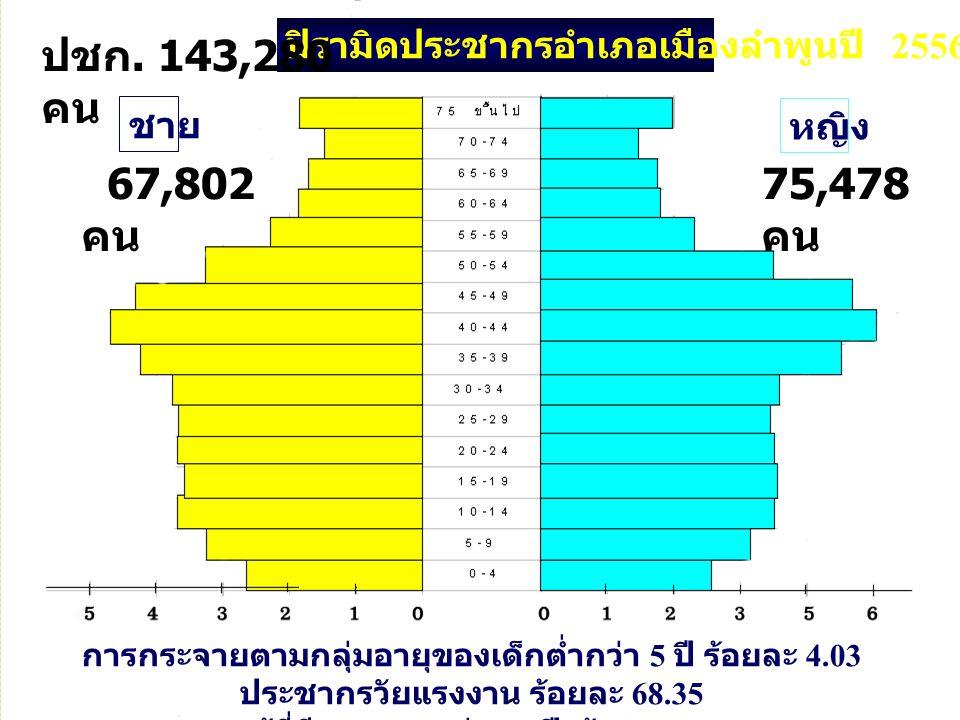 และผู้ที่มีอายุมากกว่า 60 ปี ร้อยละ 13.91