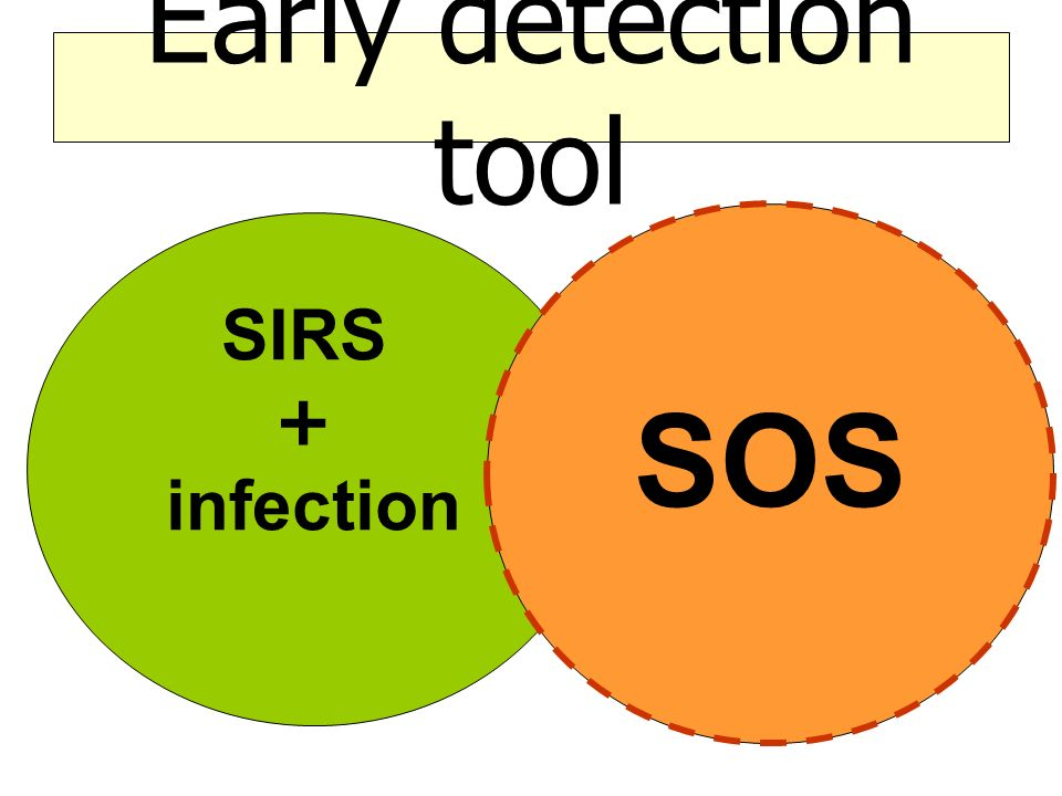 Early detection tool SOS SIRS + infection