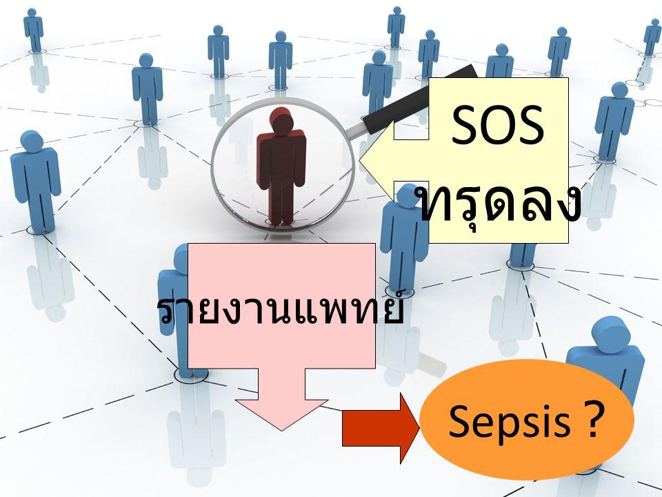 SOS ทรุดลง รายงานแพทย์ Sepsis
