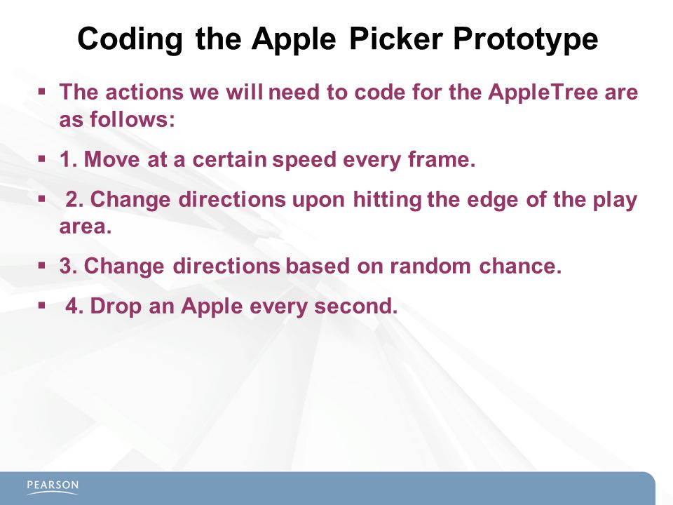 Coding the Apple Picker Prototype