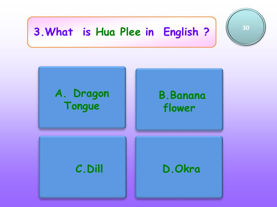3.What is Hua Plee in English