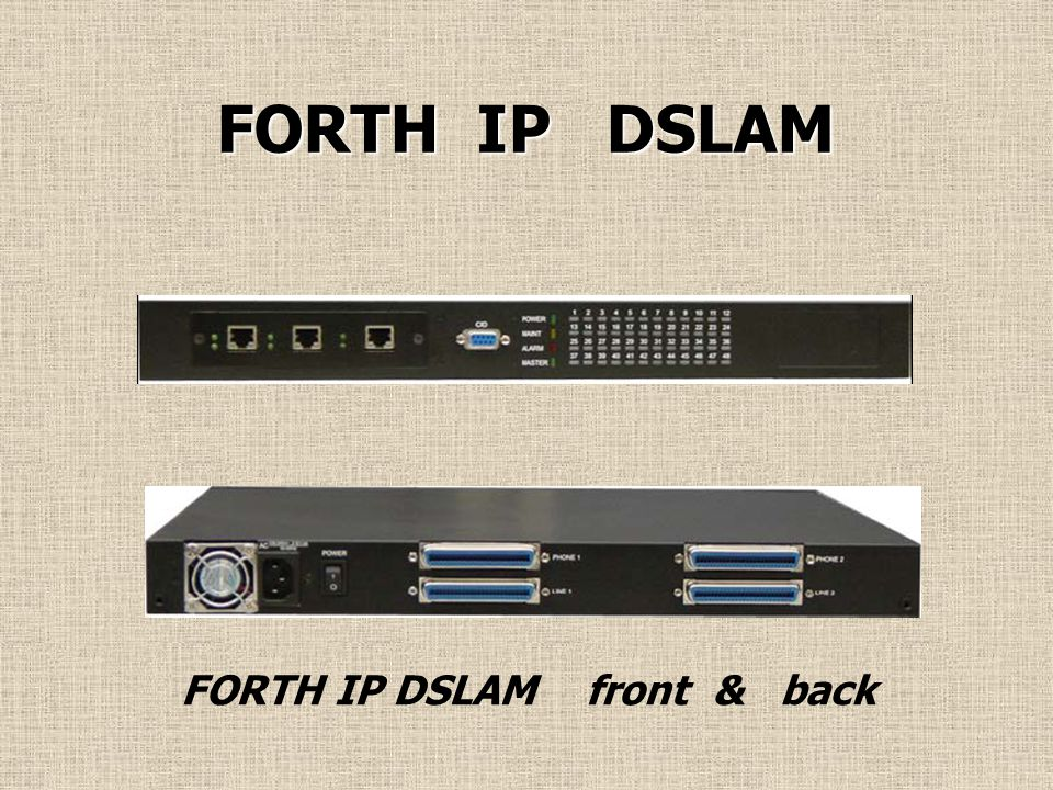 FORTH IP DSLAM FORTH IP DSLAM front & back