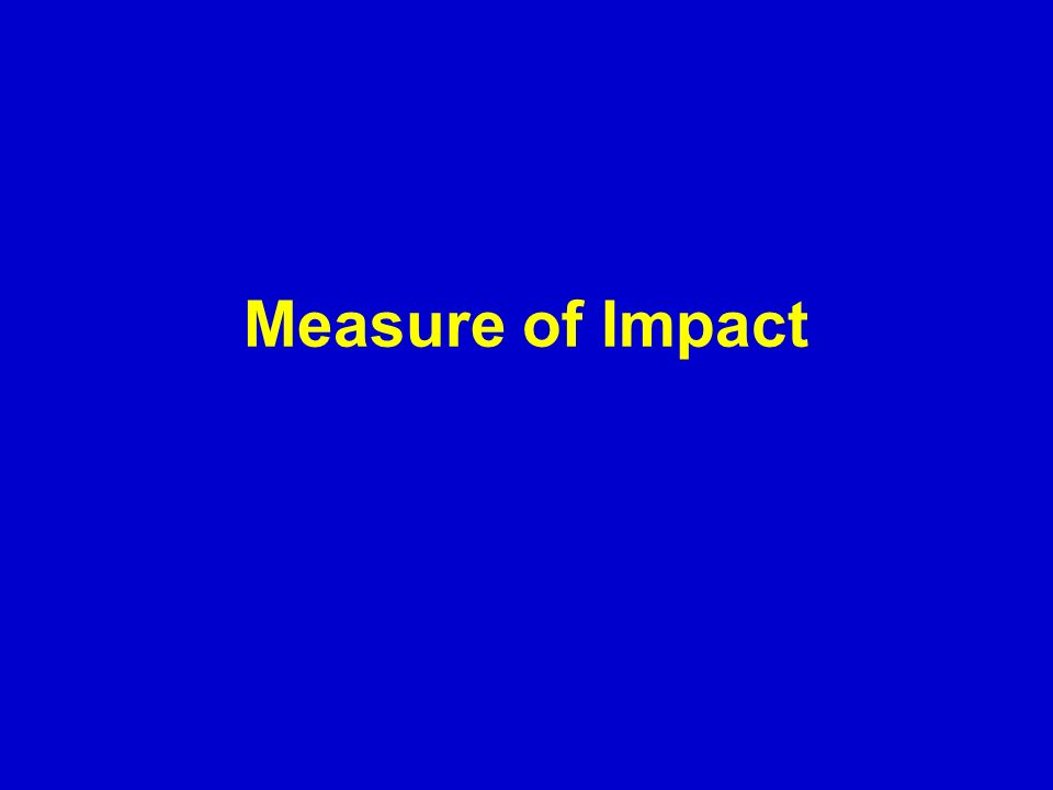 Measure of Impact