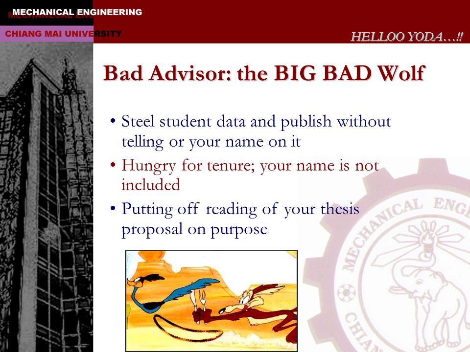 Bad Advisor: the BIG BAD Wolf