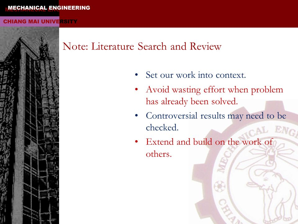 Note: Literature Search and Review