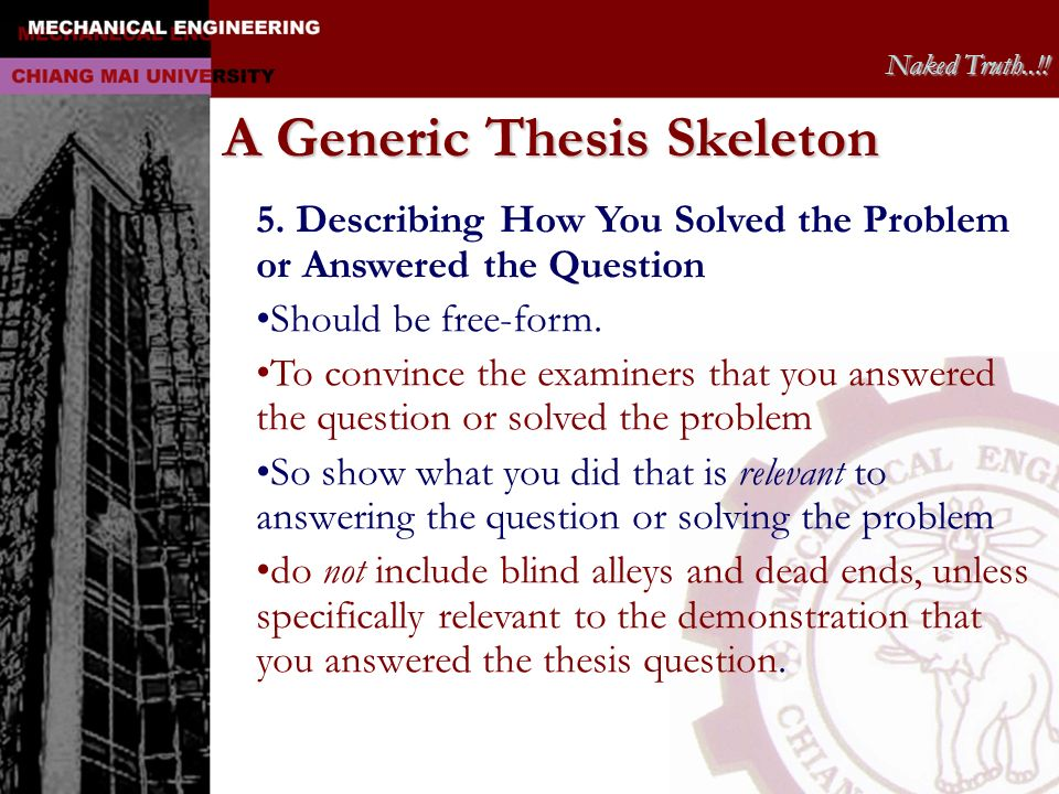 A Generic Thesis Skeleton
