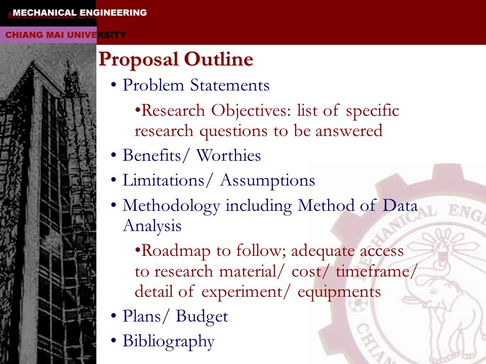 Proposal Outline Problem Statements