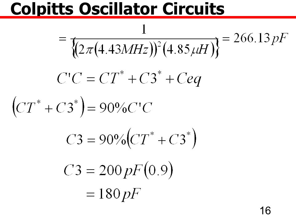 Colpitts Oscillator Circuits