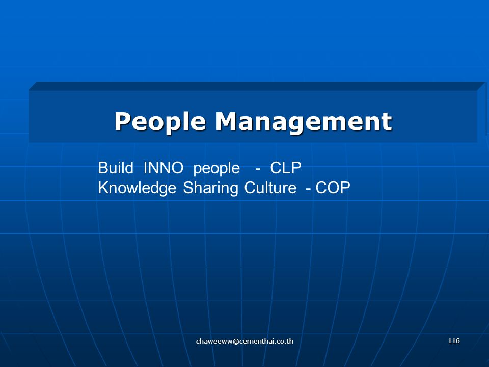 People Management Build INNO people - CLP
