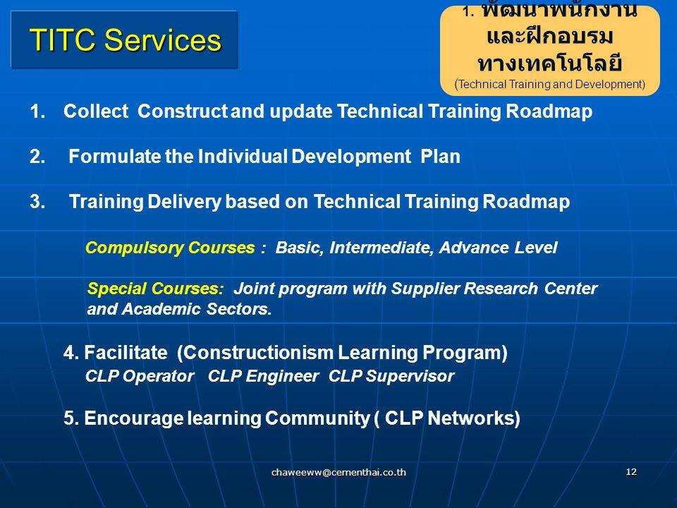 1. พัฒนาพนักงานและฝึกอบรม