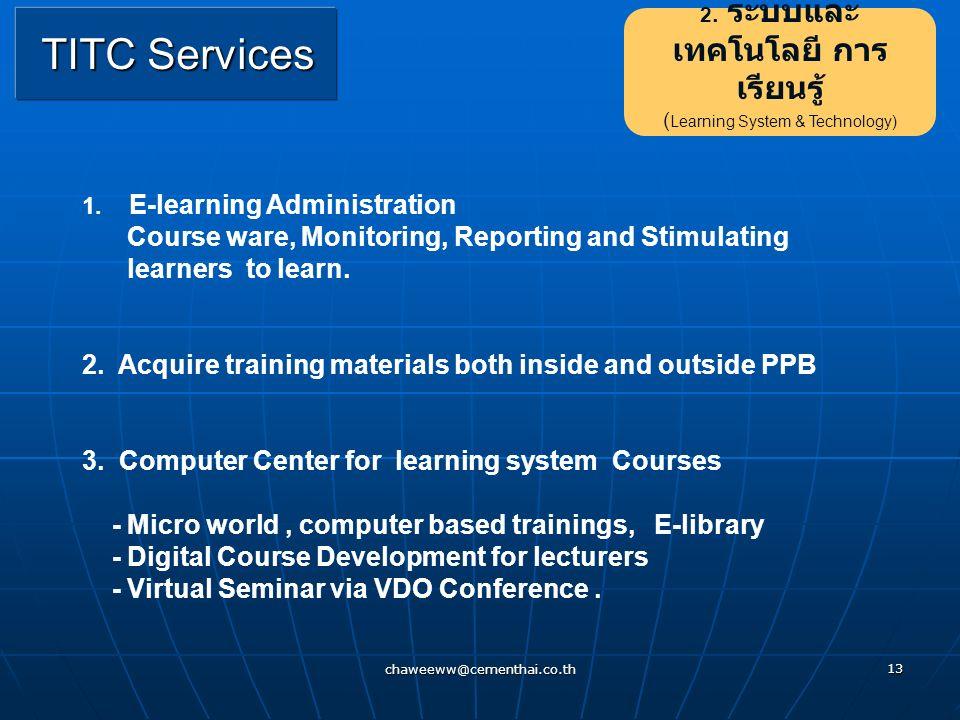 2. ระบบและเทคโนโลยี การเรียนรู้