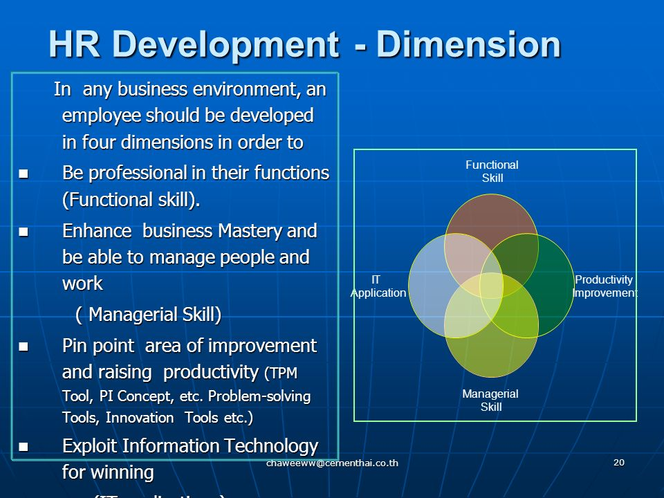HR Development - Dimension