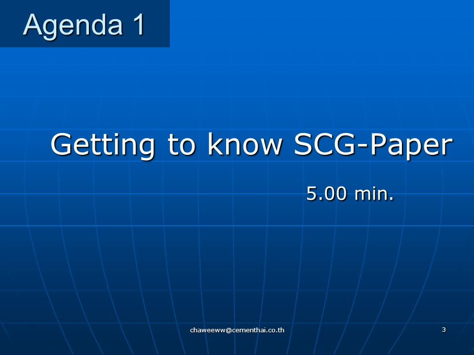 Getting to know SCG-Paper 5.00 min.