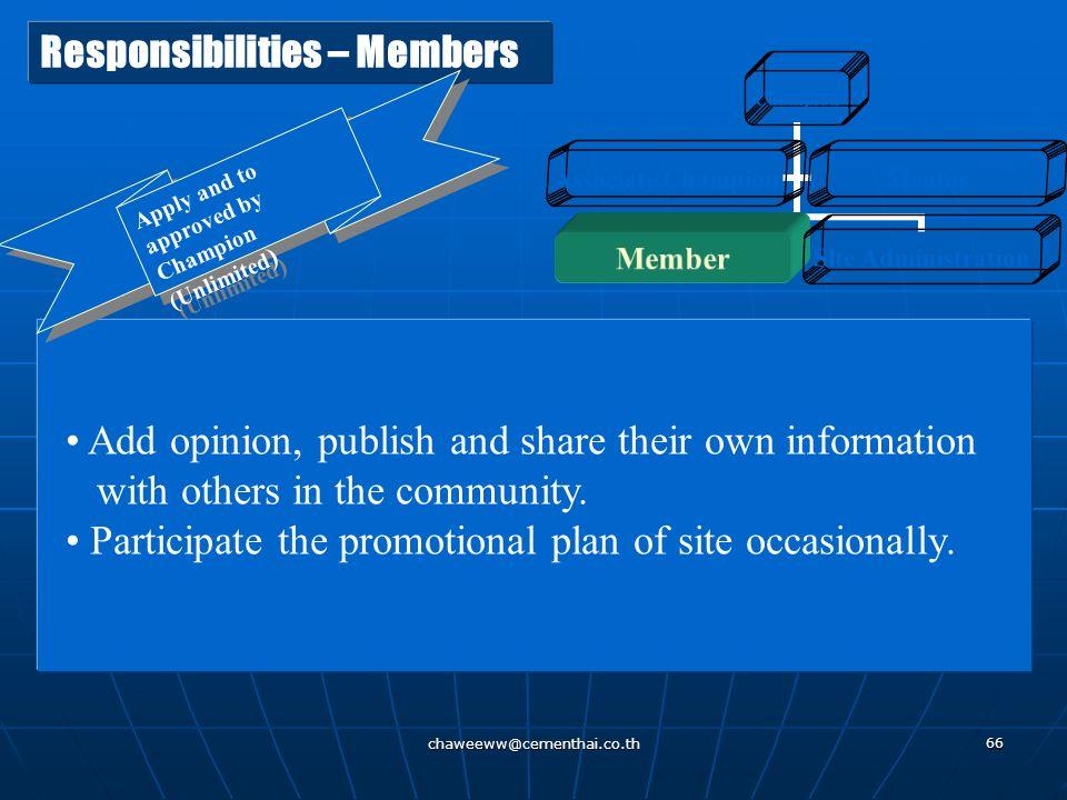 Responsibilities – Members