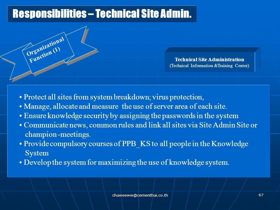 Technical Site Administration