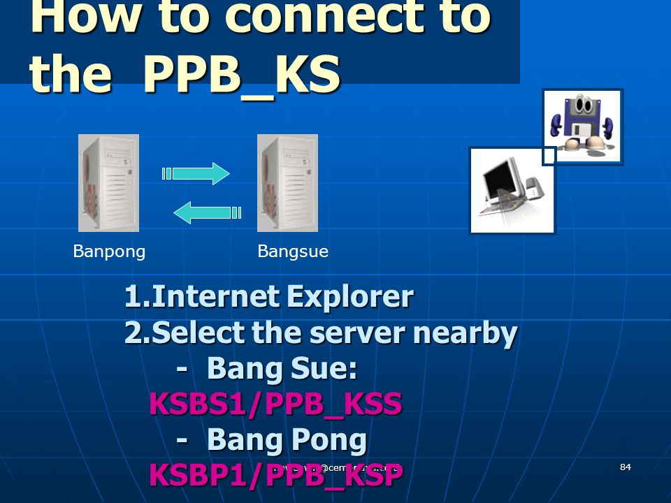 How to connect to the PPB_KS