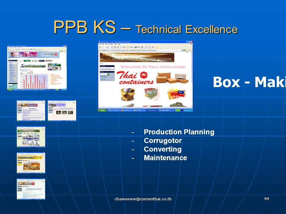 PPB KS – Technical Excellence