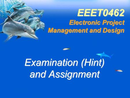 EEET0462 Electronic Project Management and Design