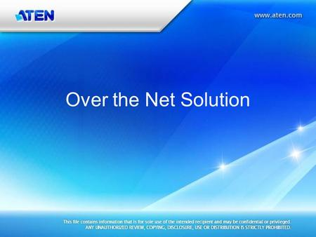 Over the Net Solution. Power Over the Net PN7320 Power Over the Net.