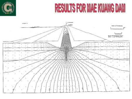 RESULTS FOR MAE KUANG DAM