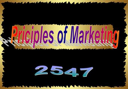 Priciples of Marketing