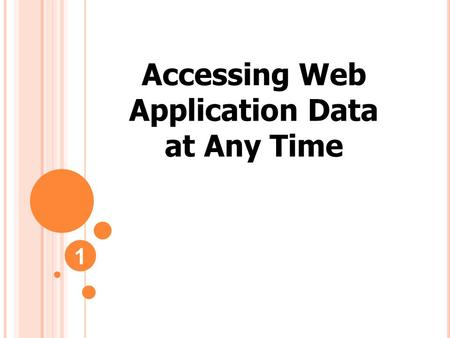 Accessing Web Application Data at Any Time