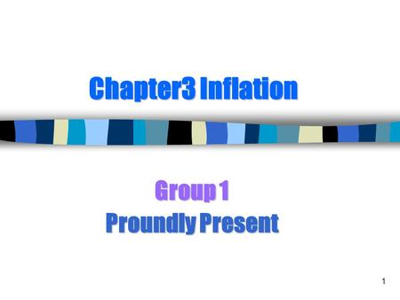 Group 1 Proundly Present
