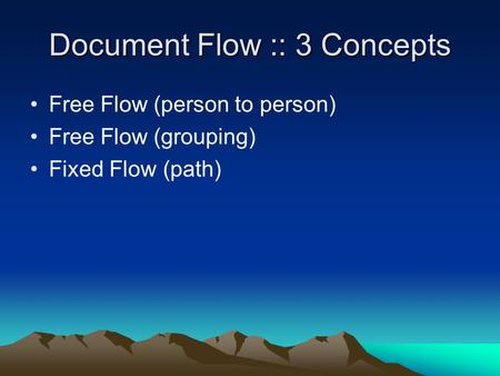 Document Flow :: 3 Concepts