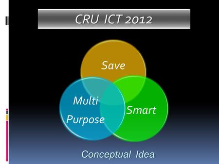 Save Smart Multi Purpose Conceptual Idea. Key to Succeed CRU ICT 2010.