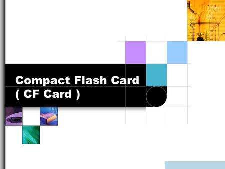 Compact Flash Card ( CF Card )
