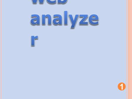 Web analyzer.