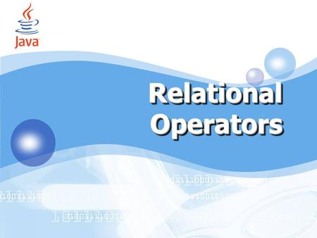 Relational Operators by Accords (IT SMART CLUB 2006) by Accords 1.
