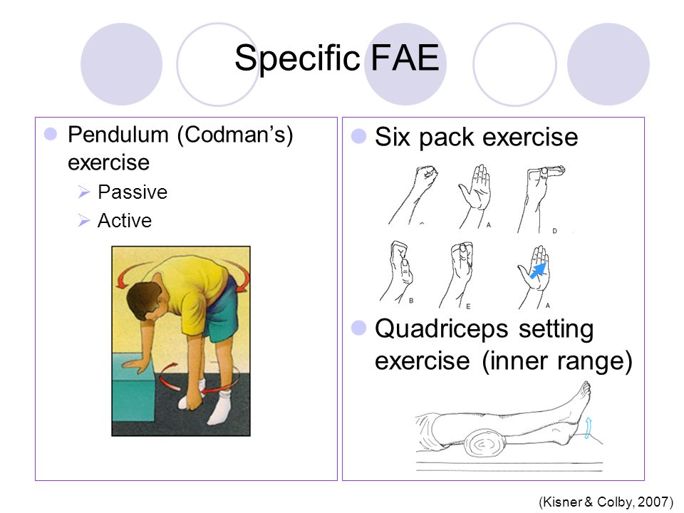Specific FAE Six pack exercise