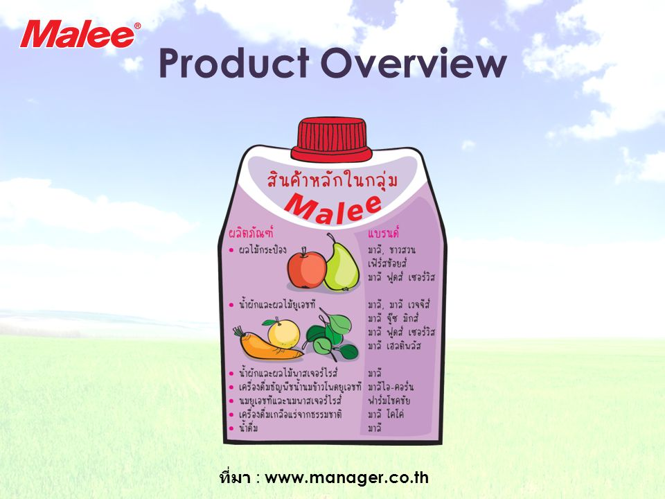 Product Overview ที่มา : www.manager.co.th