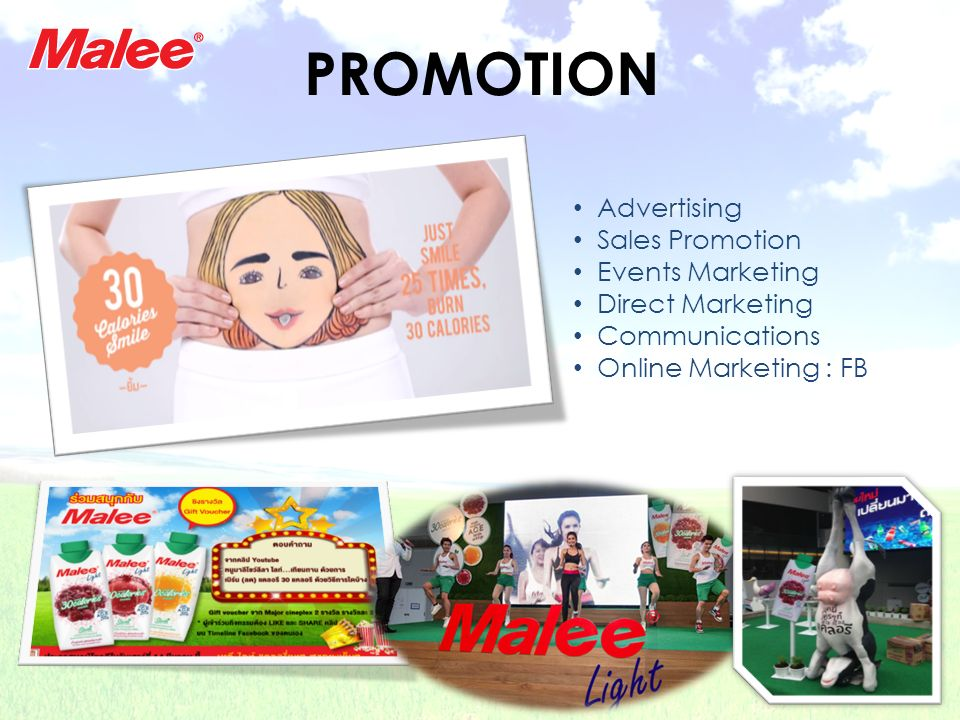 PROMOTION Advertising Sales Promotion Events Marketing