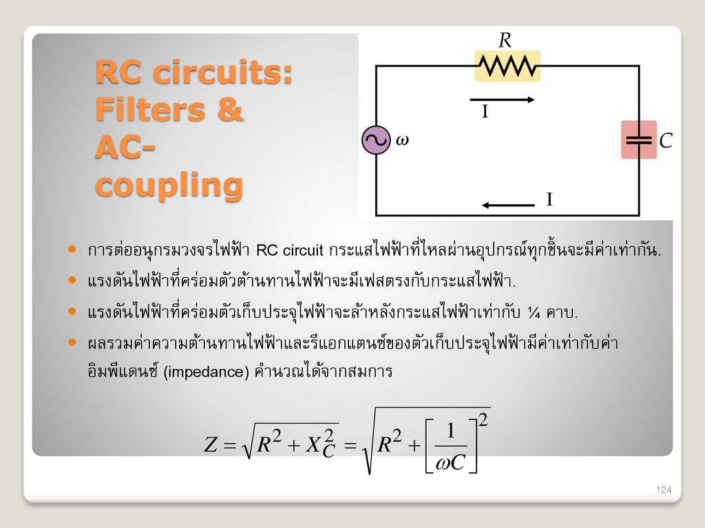 RC circuits: Filters & AC-coupling