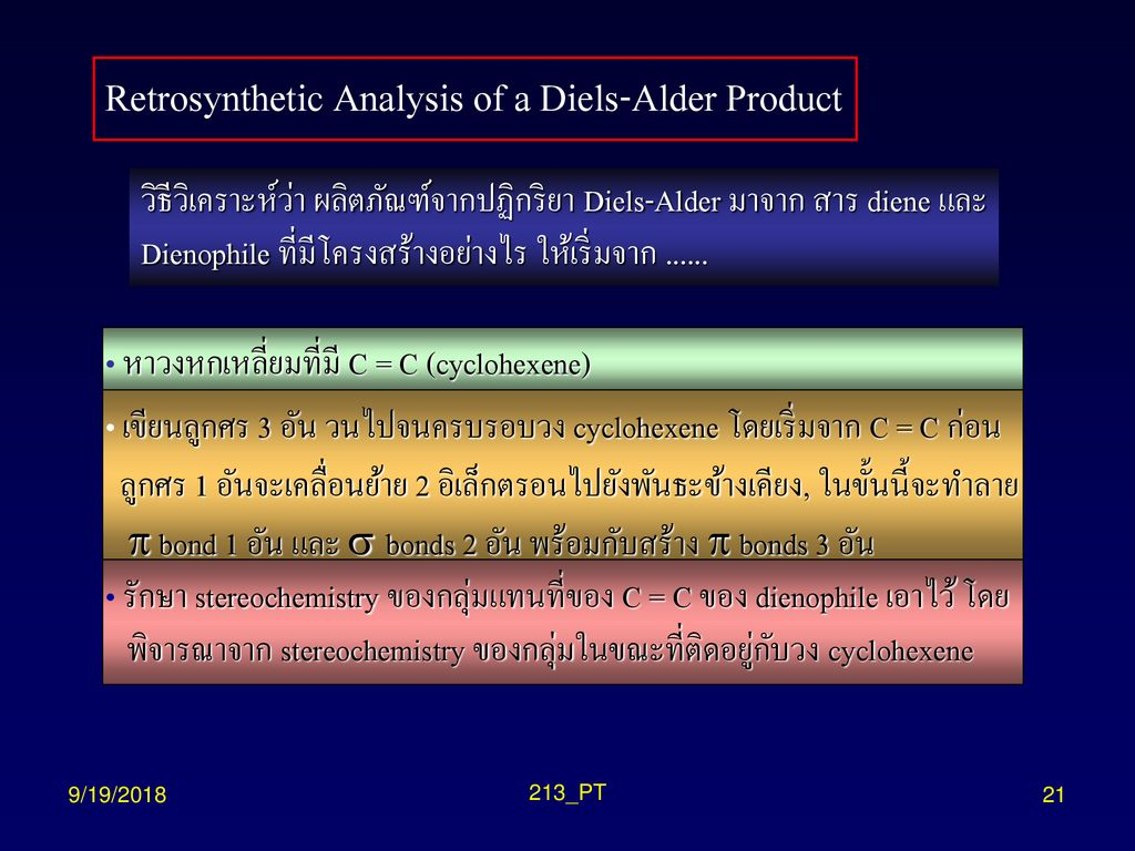 Retrosynthetic Analysis of a Diels-Alder Product