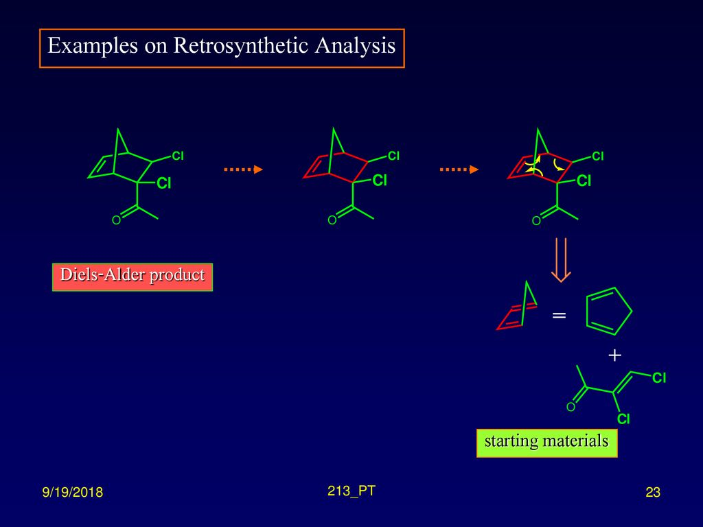 Examples on Retrosynthetic Analysis