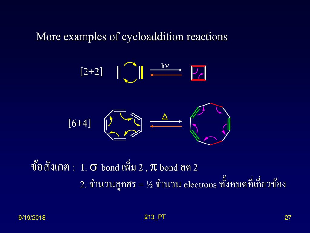 More examples of cycloaddition reactions