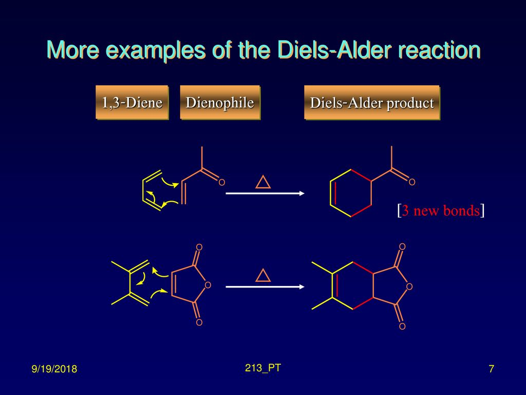 More examples of the Diels-Alder reaction