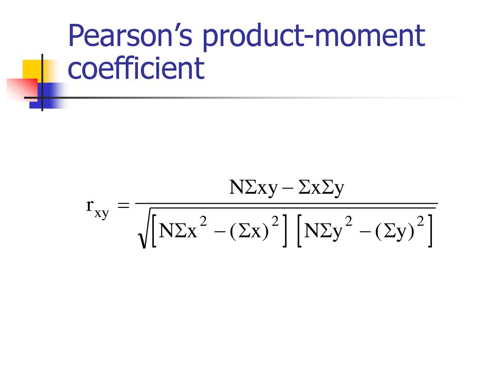 Pearson's product-moment coefficient