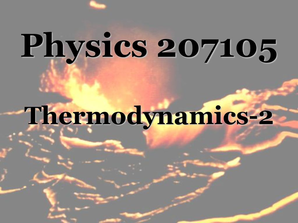 Physics Thermodynamics-2