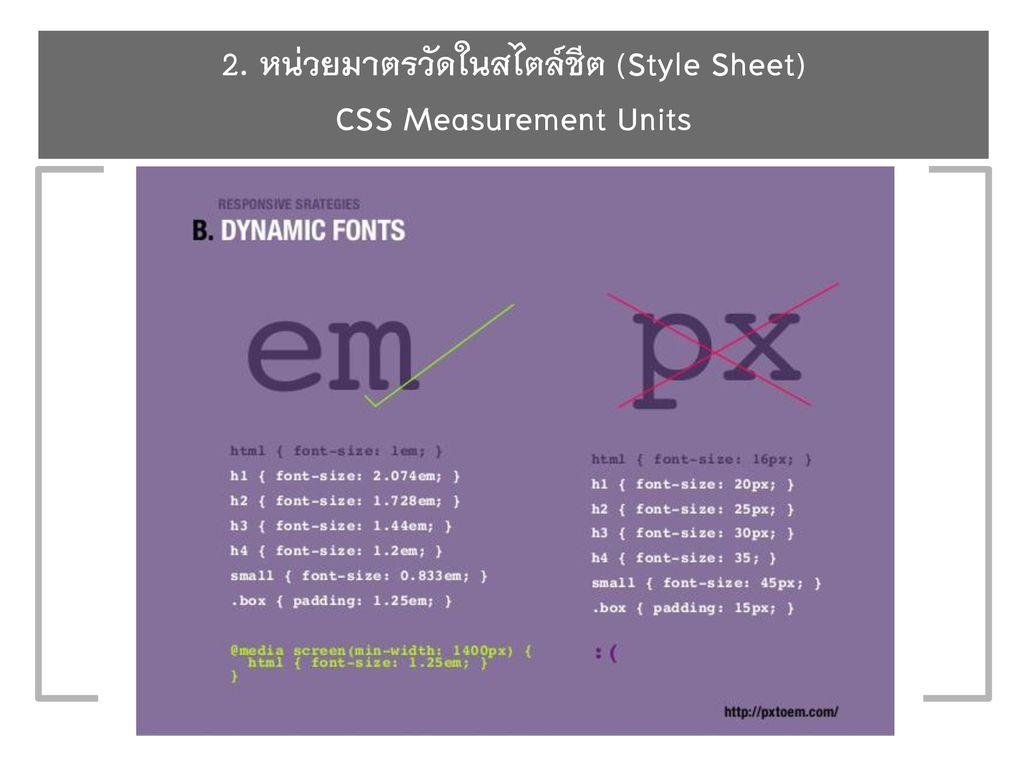 บทที่ 5 ตัวพิมพ์/ตัวอักษรที่ใช้บนเว็บ Chapter 5 Web Typography - ppt