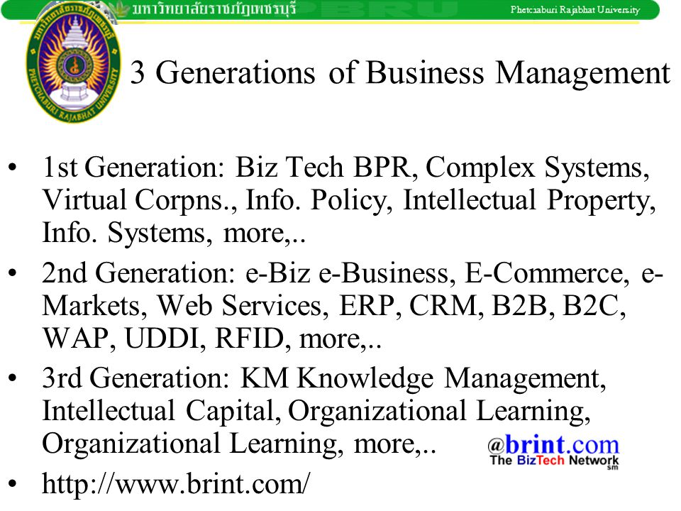 3 Generations of Business Management