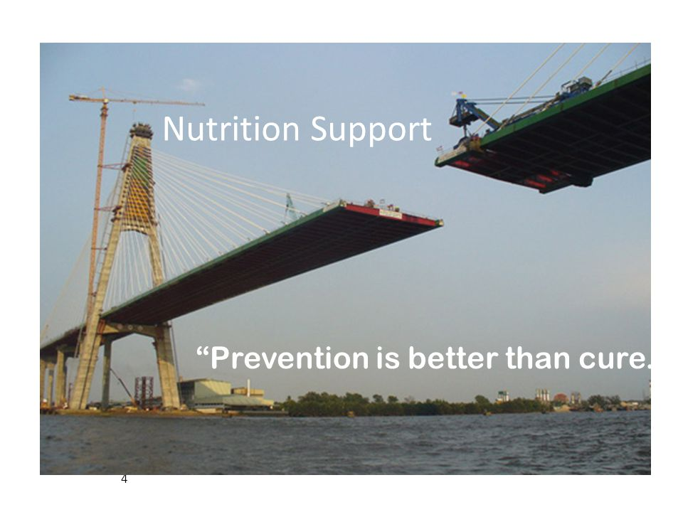 Nutrition Support Prevention is better than cure. Nutrition Support