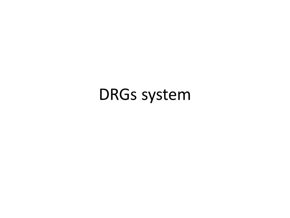 DRGs system