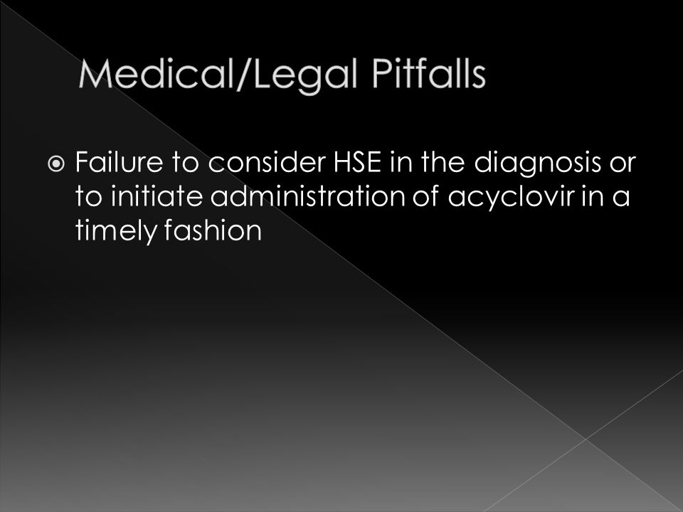 Medical/Legal Pitfalls