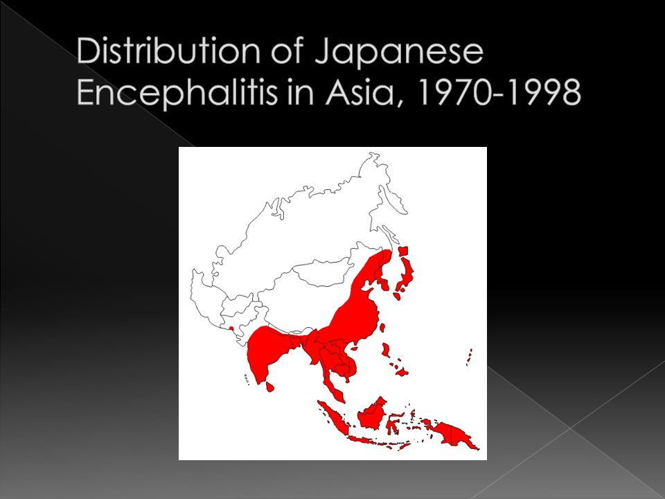 Distribution of Japanese Encephalitis in Asia,